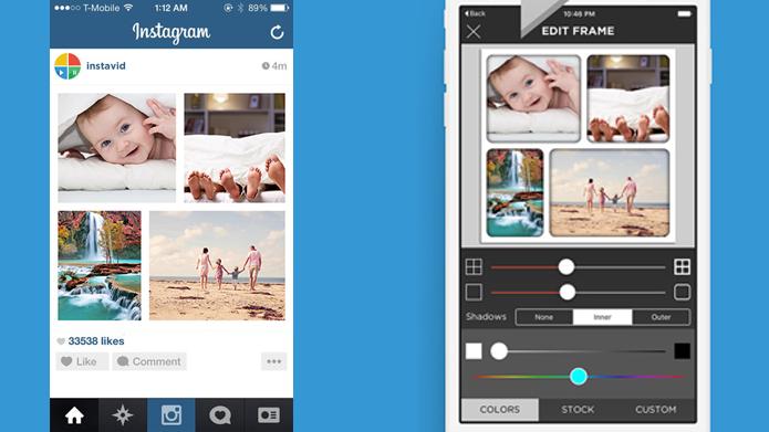 Aplicativo faz colagens de fotos e vídeos com músicas do iTunes (Foto: Reprodução/Instavid)