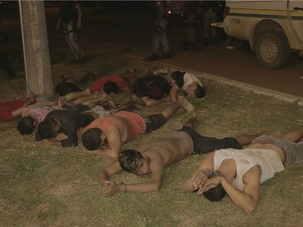 Rebelião foi contida após a entrada do Bope no presídio  (Foto: Divulgação/PM-AC)