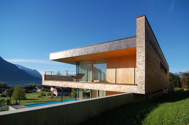 Madeira E Vidro No Vale Do Reno Casa Vogue Casas