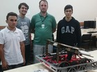 Alunos de SC montam equipe para competição mundial de robótica