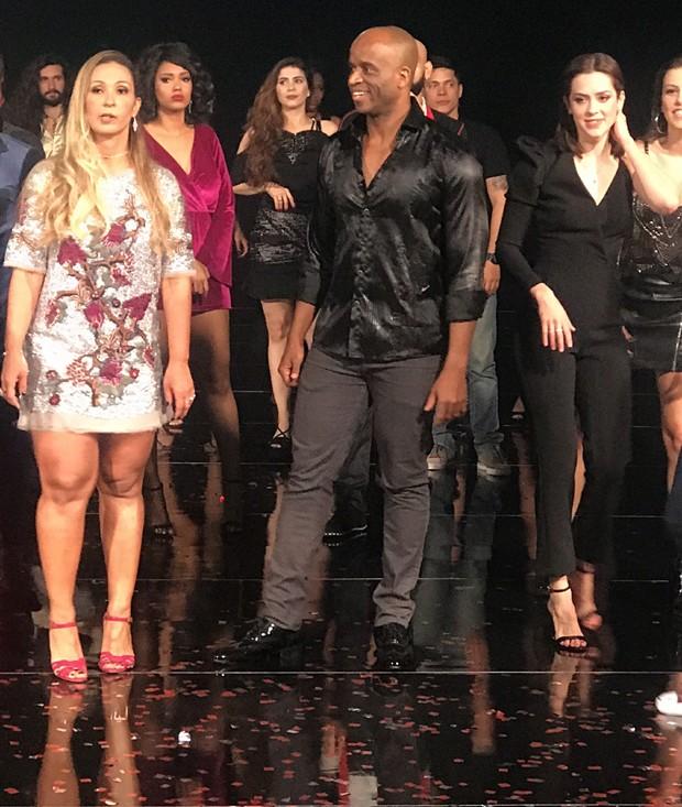Valesca Popozuda gravou a vinheta com outros ex-participantes da Dança dos Famosos (Foto: AF Produções/ Divulgação )