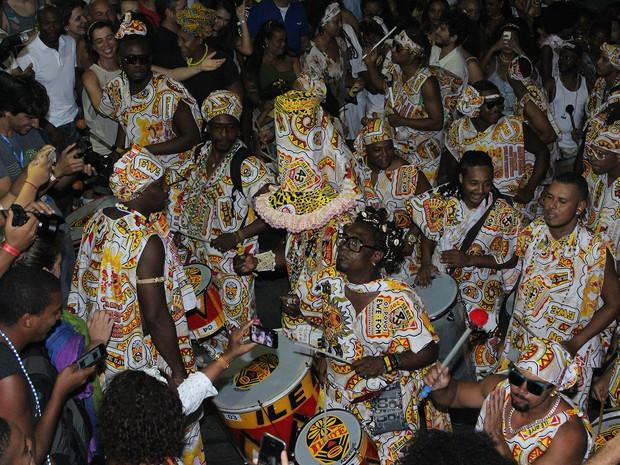 Desfile do Ilê Aiyê no carnaval de Salvador 2017. Bahia (Foto: Tiago Caldas /Ag Haack)