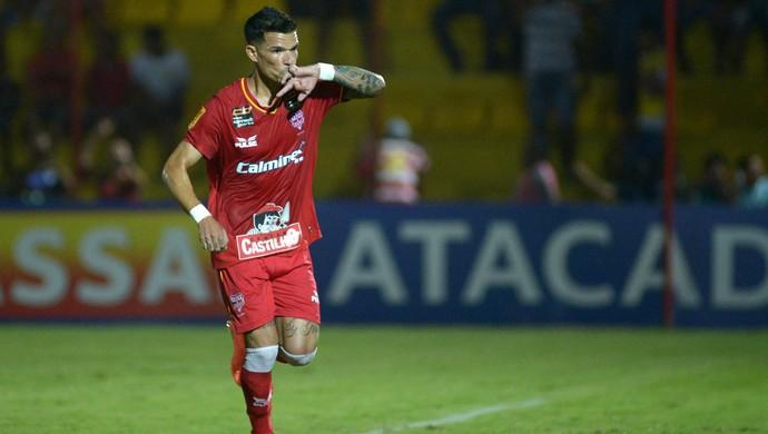 Rodrigo Andrade, meia do Audax, comemora gol contra o Ituano no Campeonato Paulista (Foto: Renato Silvestre)