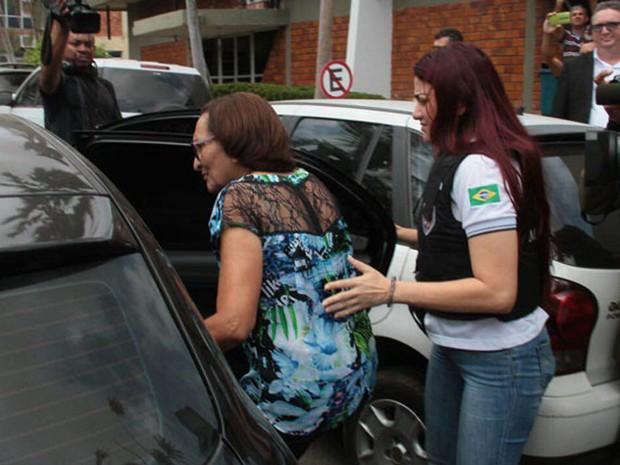 Nilce de Jesus Farias Ribeiro (PMDB) foi levada para o Complexo Penitenciário de Pedrinhas em São Luís, MA (Foto: Biaman Prado/O Estado)