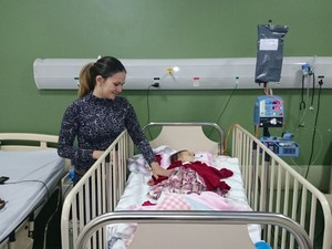 Sofia estava internada no Hospital Samaritano (Foto: Jéssica Pimentel / G1)