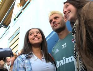 Rafael Sobis Treino Fluminense em Nova Veneza (Foto: Hector Werlang)