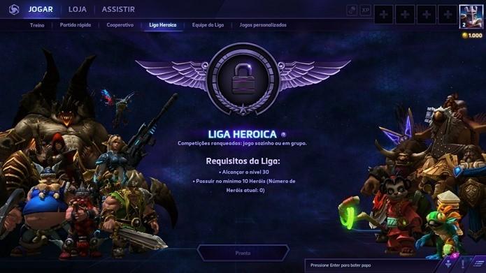 Liga Heroica e Equipe de Liga são modos para jogadores que querem se dedicar ao jogo (Foto: Reprodução / Dario Coutinho)