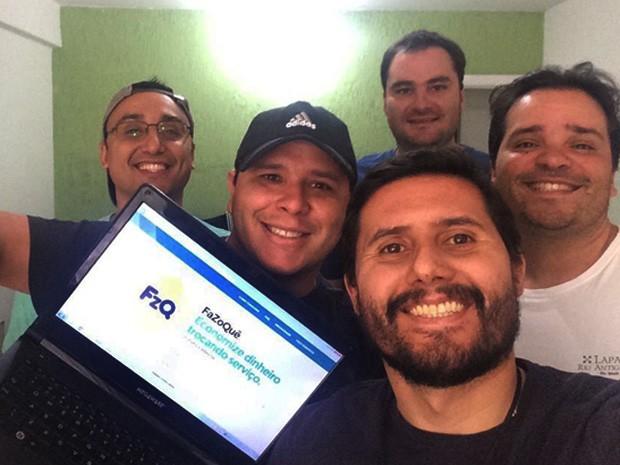 Grupo de brasilienses criaram o 'FaZoQuê', site que fornece troca de serviços entre profissionais (Foto: (Arquivo pessoal/ Saulo de Sena Selveira))