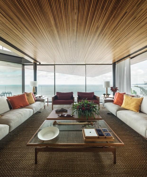Com arquitetura estonteante, casa no Guarujá paira sobre o mar (Foto: Fernando Guerra (FG+SG))