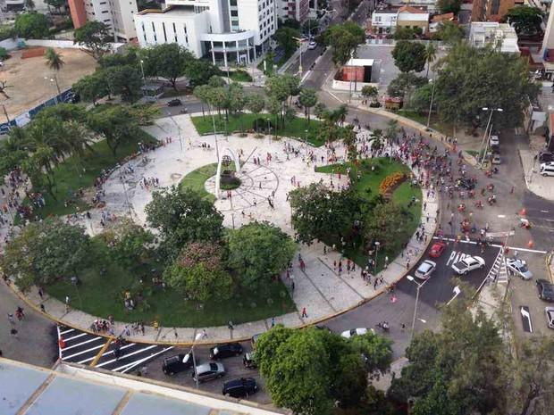 praça portugal  (Foto: TV Verdes Mares/Reprodução)