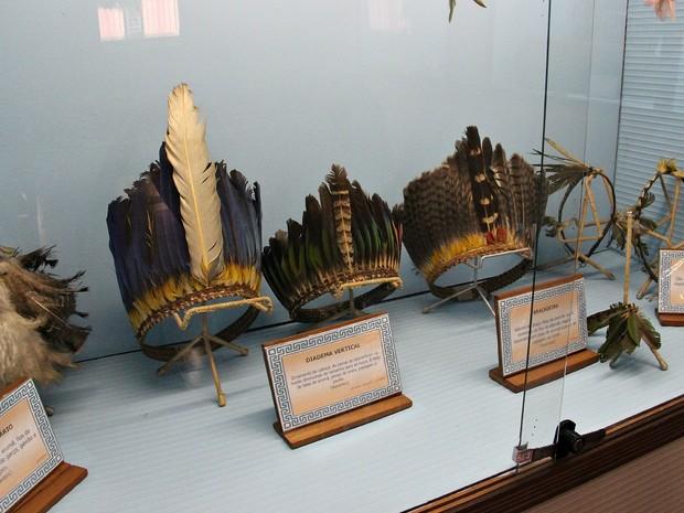 Museu funciona com objetos doados por índios e arqueólogos (Foto: Indiara Bessa/G1 AM)