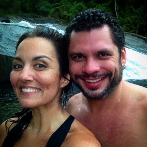 Renata e o marido, Leo Salles Viot (Foto: Reprodução)