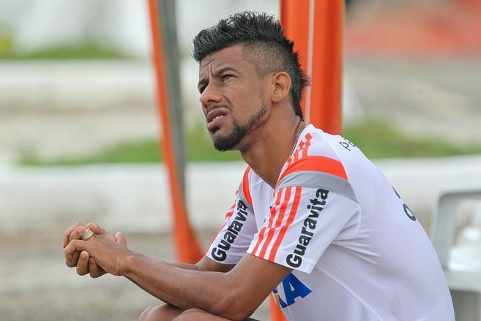 Léo Moura, Ninho do Urubu, treino, Flamengo (Foto: Gilvan de Souza/Fla Imagem)
