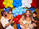 Luana Piovani mostra foto da festa de aniversário de 5 anos do filho Dom