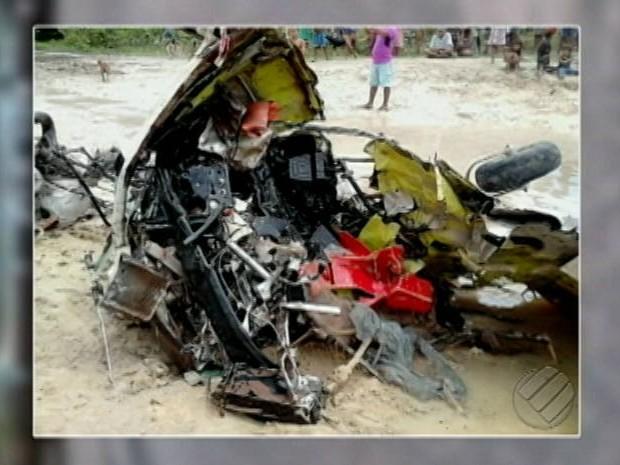 Polícia faz buscas a piloto após queda de avião no sudoeste do PA (Foto: Reprodução/ TV Liberal)