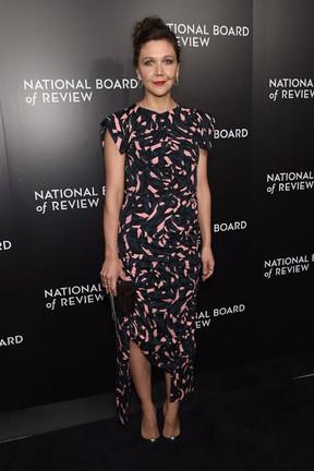 Maggie Gyllenhaal em evento em Nova York, nos Estados Unidos (Foto: Jamie McCarthy/ Getty Images/ AFP)