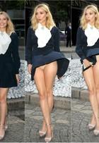 Rajada de vento levanta vestido de Elizabeth Olsen e atriz mostra calcinha