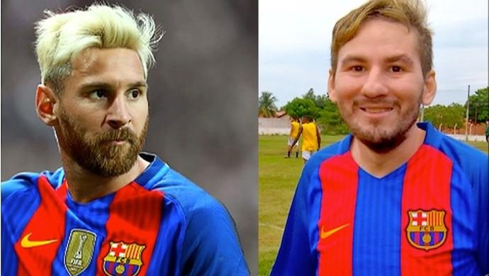 Montagem Messi  (Foto: Reprodução/TV Anhanguera)