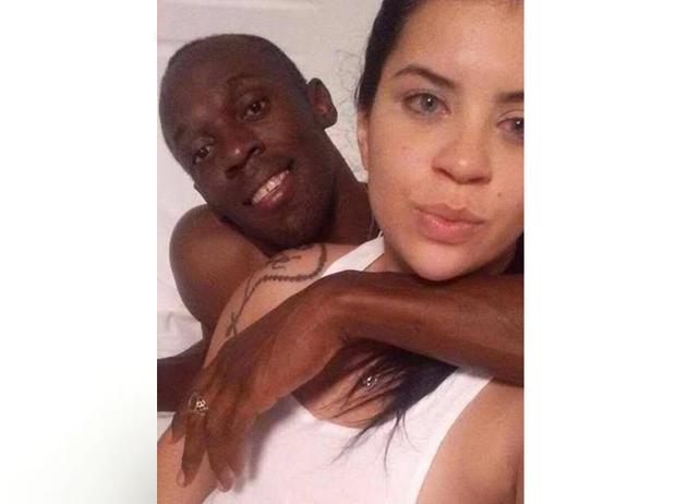 Jady Duarte e Usain Bolt (Foto: Reprodução / Internet)