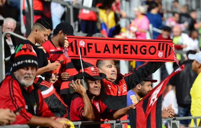 torcida flamengo ilha (Foto: André Durão / GloboEsporte.com)