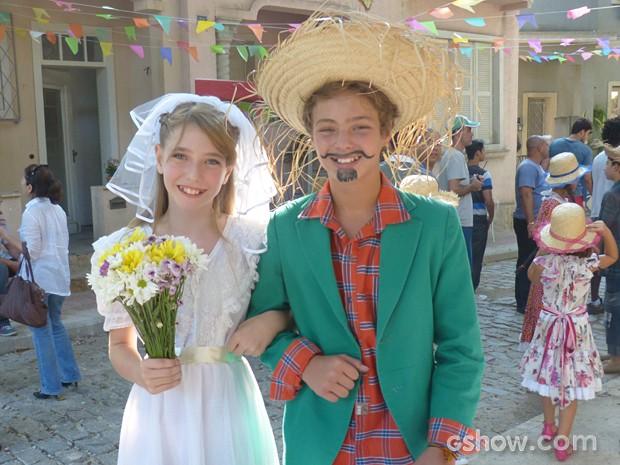 O casamento de Sidney e Sofia pequenos  (Foto: Malhação / TV Globo)
