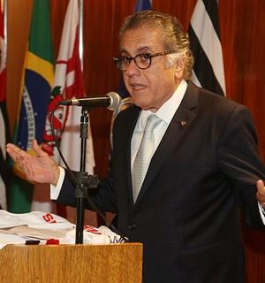 Carlos Miguel Aidar, presidente do São Paulo (Foto: Rubens Chiri / São Paulo FC)