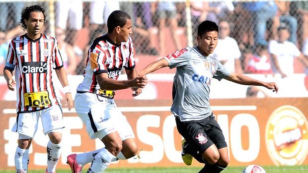 Zizao na partida do Corinthians contra o Paulista (Foto: Mauro Horita / Ag. Estado)
