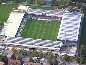 Mage Solar Stadion, estádio oficial do clube SC Freiburg, com captação de energia solar (Foto: Divulgação / SC Freiburg)