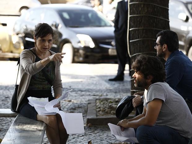 Presente para quem vê: Drica prestes a encarnar Cora (Foto: Inácio Moraes/TV Globo)