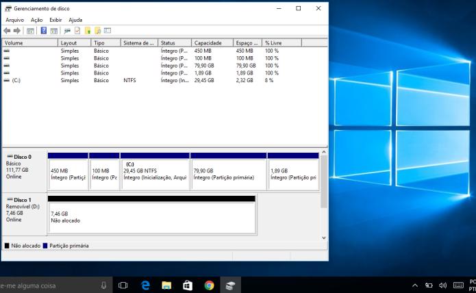Descubra como particionar um disco rígido externo no Windows 10 (Foto: Reprodução/Edivaldo Brito)
