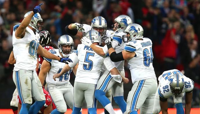 Detroit x Atlanta, da NFL, Matt Prater (Foto: Getty Images)
