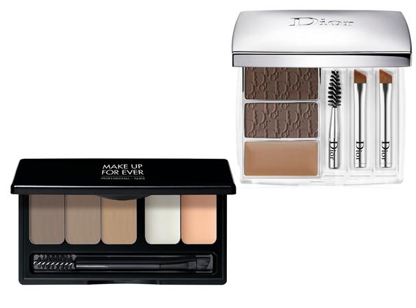 Brow Palette, R$ 199, Make Up For Ever; All-In-Brow 3D, R$ 355, Dior (Foto: Divulgação)