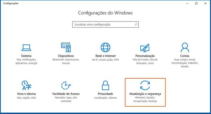 Clique no menu de atualizações do Windows no computador (Foto: Reprodução/Barbara Mannara)