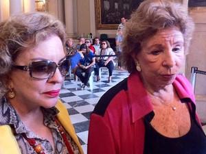 A atriz e radialista, Daisy Lúcidi e a radialista Wilma Guimaraes se despedem nesta quarta. (Foto: João Bandeira Melo / G1)