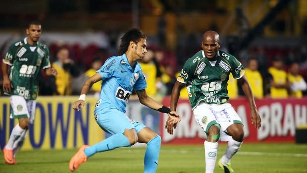 Neymar e Domingos, Guarani x Santos (Foto: Marcos Ribolli / Globoesporte.com)