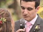 Apaixonado por Star Wars, noivo usa trilha do filme e broche em casamento