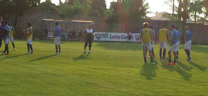 Treino do Cruzeiro na Toca da Raposa II (Foto: Marco Antônio Astoni)