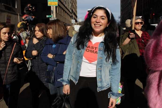 A ativista Olga Bricent (Foto: Larissa Gomes)
