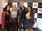 Flávia Alessandra e mais famosos vão à inauguração de teatro do Rio