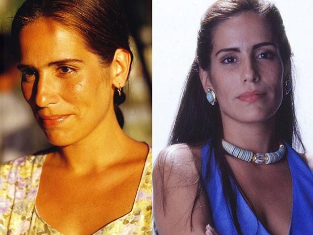 Gloria Pires como Ruth e Raquel, em Mulheres de areia (Foto: Acervo Globo)