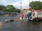 Motociclista fica ferido em colisão com carro em Campo Grande