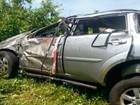 Cearense morre após capotar Pajero na BR-304; familiares ficaram feridos