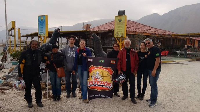 Posto de fiscalização no caminho entre Iquique e Calama  (Foto: Istepôs Aventureiros/Divulgação)