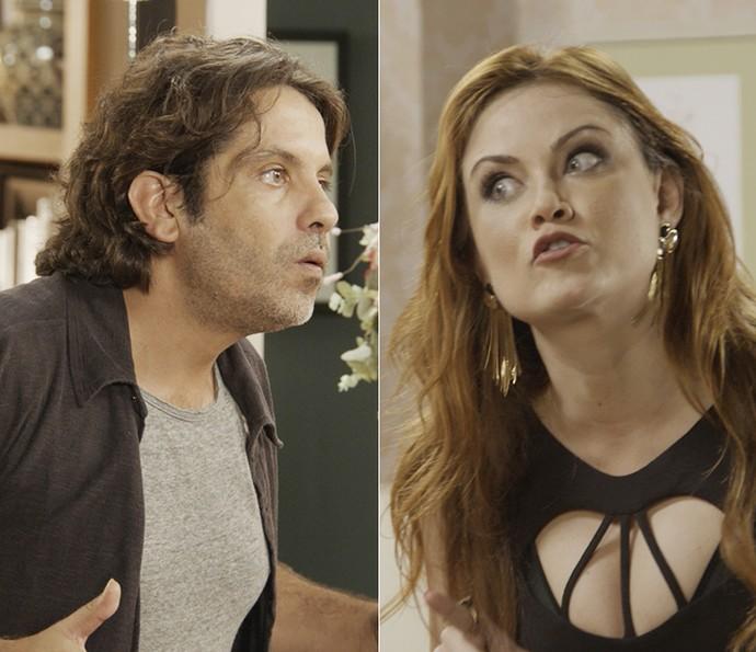 Diretor fica irado com a enrolação de Leonora e ela não se segura (Foto: TV Globo)