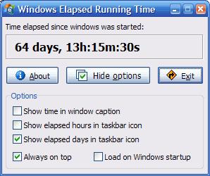 Windows Elapsed Running Time
