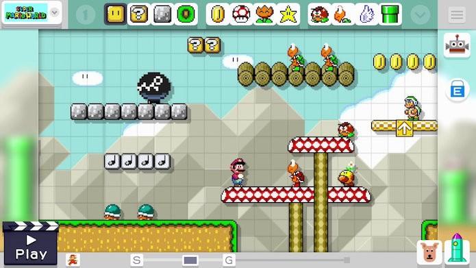 Super Mario Maker oferece centenas de ferramentas de criação (Foto: Divulgação/Nintendo)