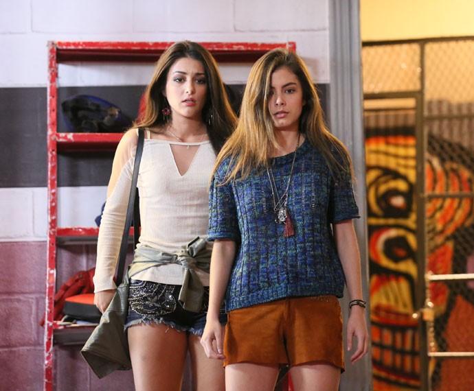 Bianca e Jade ficam PASSADAS com a cena (Foto: Isabella Pinheiro/Gshow)