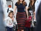 Jennifer Lopez recebe visita dos filhos durante filmagem