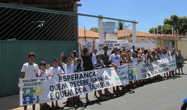 'Reciclando Sonhos' é um dos 103 projetos apoiados pelo Criança Esperança em todo o país (Foto: Katylenin França/TV Clube)