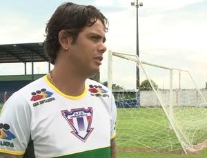 Alex Carioca, novo atacante do Ariquemes (Foto: Reprodução/ TV Ariquemes)